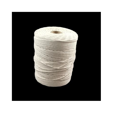 Accessoire pour abat-jour - Cordage de coton écru - 2 mm / vendu par 105 m
