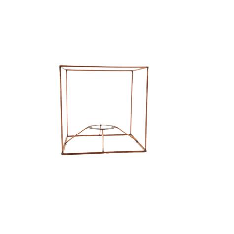 Carcasse abat-jour - Carcasse cubique - 15 cm x 15 cm