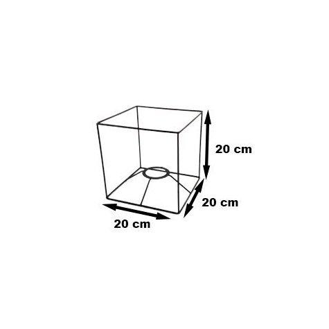 Carcasse abat-jour - Carcasse cubique - 20 cm x 20 cm