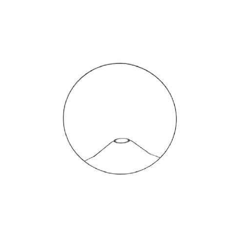 Carcasse abat-jour - Carcasse cylindrique plate - diamètre 30 cm - Pour pied de lampe