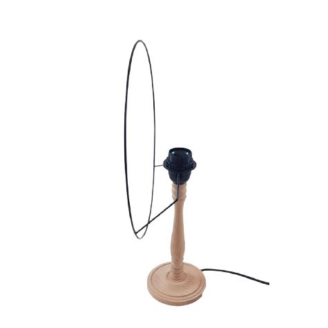 Carcasse abat-jour - Ovale plate 27/13 cm - Pour Pied de lampe