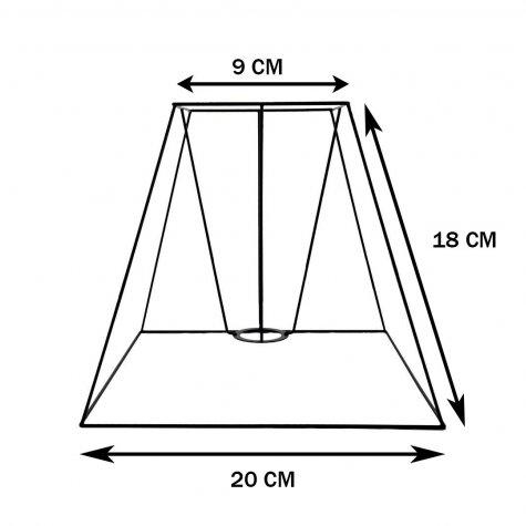 Carcasse abat-jour - Pyramide carré - 20 cm