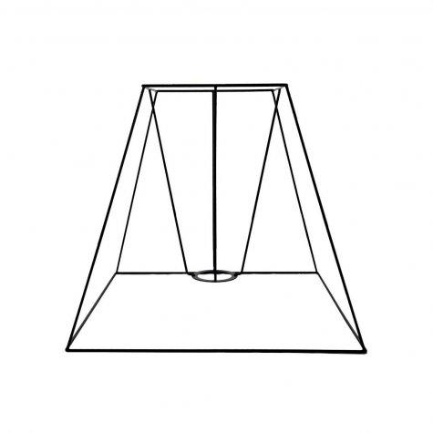 Carcasse abat-jour pyramide carré 40