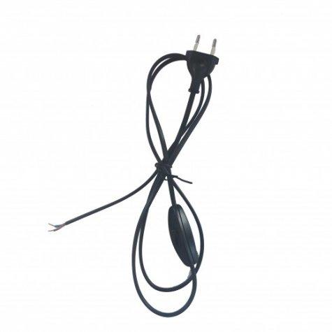Cordon électrique avec interrupteur 1.5 m (Noir)