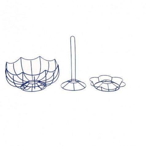 Service de table - Ensemble en Métal Porte essuie-tout, dessous de plat et corbeille à fruits