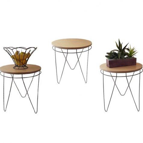 Rangement Maison - Table d'appoint Ø 40 cm - hêtre des Vosges